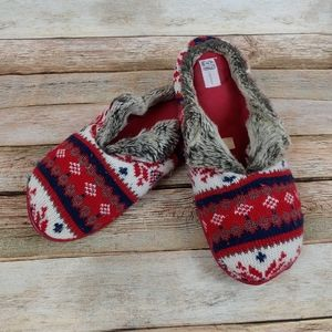 Dearfoams Christmas sweater slippers Med 7/8